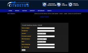 Form Pendaftaran Link SBOBET
